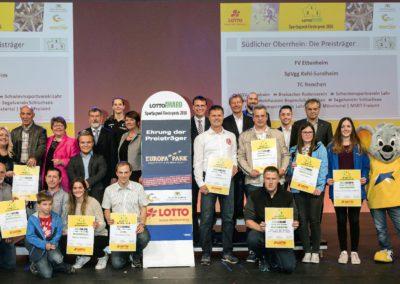 Auszeichnung 2017 mit dem Sportjugend-Förderpreis im Europa-Park